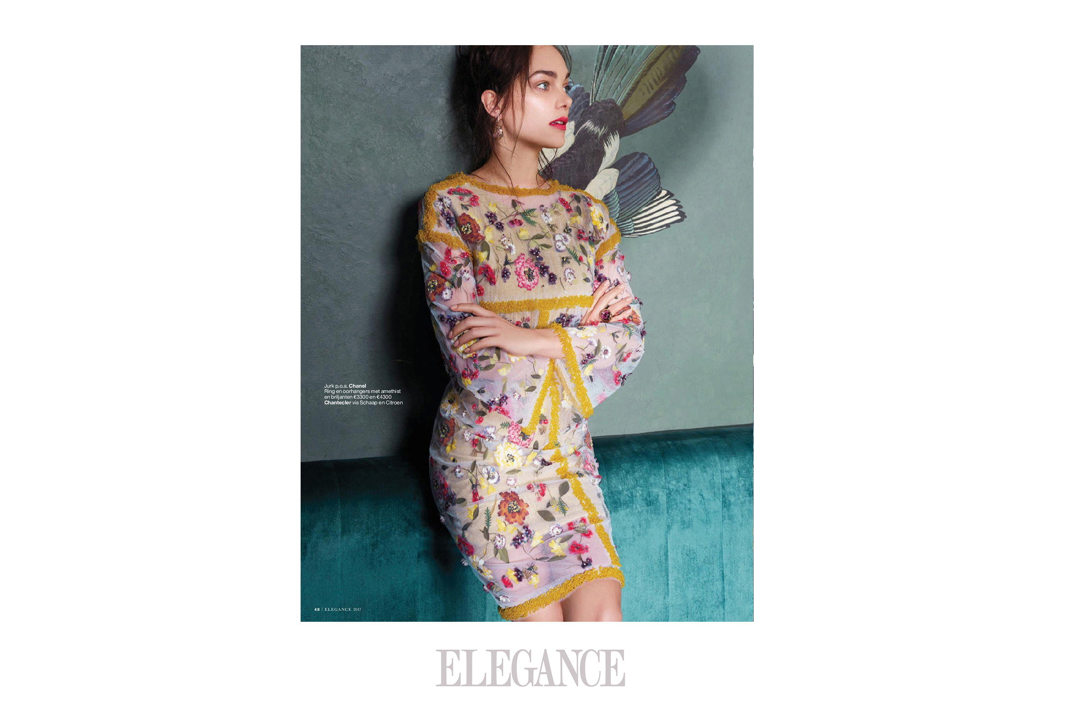 ELEGANCE  2/2017 - Aparently  brands like Chanel, Prada. YSL and Fendi like  magpies too . . .  Photo\'s; MartinSweers.<p>.