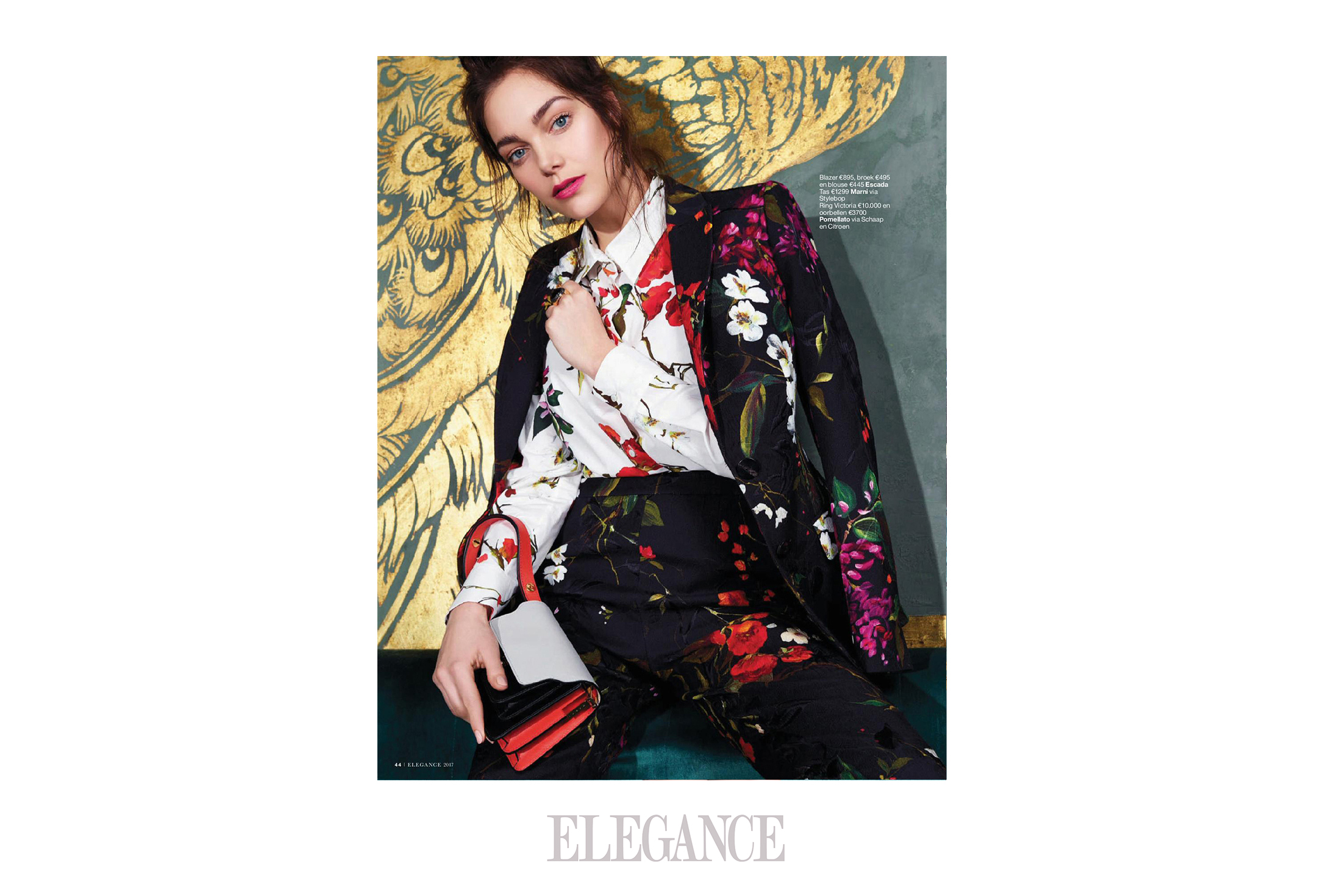 ELEGANCE  2/2017 - Aparently  brands like Chanel, Prada. YSL and Fendi like  magpies too . . .