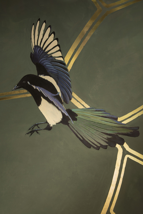 Lean, agile and intelligent forest birds, thriving in this modern urban environment. <p>