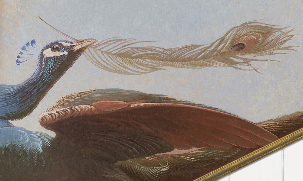 ""\""""Other ones Feathers"""" 2020 - Detail - new painted ceiling for the 18th-century Driemond tea pavilion. <p>.""1000|599|?|en|2|7f5f68d9008384729b624d91e2567928|False|UNLIKELY|0.2820943295955658