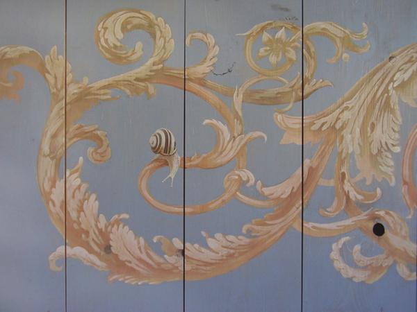 Garden snails - Painted ceiling  Peter Korver | Amsterdam