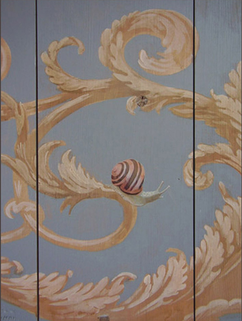 Garden snails - Painted ceiling detail