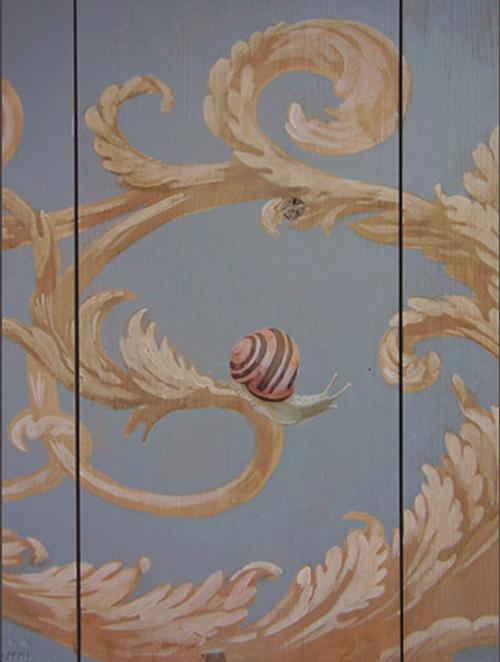 Garden snails - Painted ceiling detail Peter Korver | Amsterdam