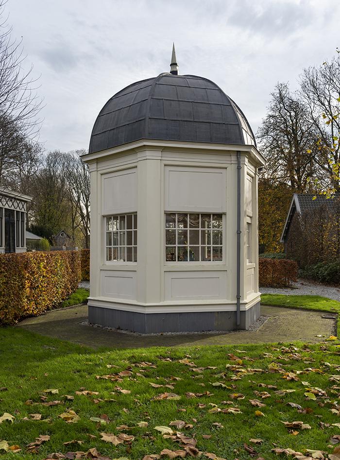 De 18de-eeuwse theekoepel van Driemond. <p> Foto; Eddy Wenting - Nov. 2020