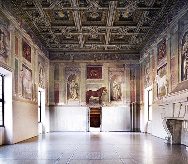 Giulio Romano, 'Sala dei Cavalli'  1524, Fresco's, Palazzo Té, - Mantua, Italië