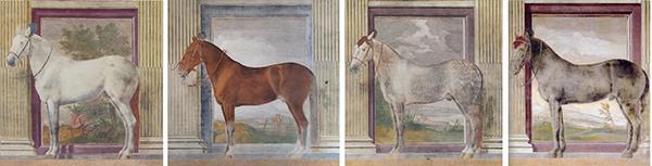Giulio Romano, 'Sala dei Cavalli'  1524, Fresco's, Palazzo Té, - Mantua, Italy